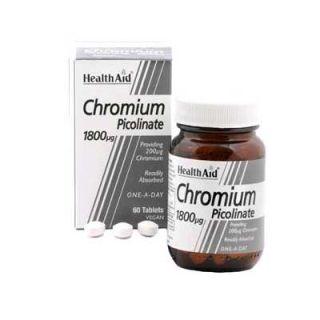 Health Aid Chromium Picolinate 1800μg 60 Tabs Πικολινικό Χρώμιο