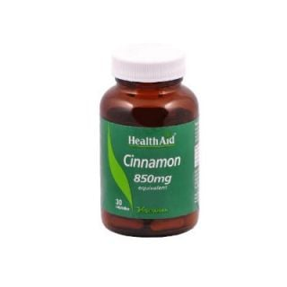Health Aid Cinnamon 850mg 30 Vecaps