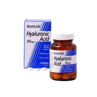 Health Aid Hyaluronic Acid 55mg 30 Tabs Υαλουρονικό Οξύ