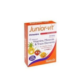 Health Aid Junior-Vit Children's 30 Chewable Tabs Multivitamin