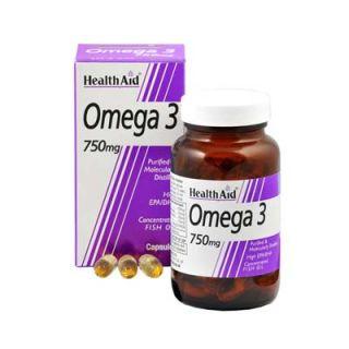 Health Aid Omega 3 750mg 60 Caps Fatty Acids