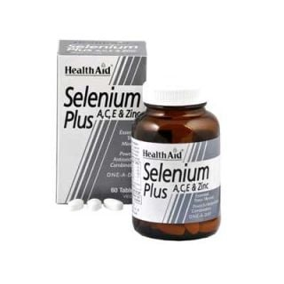 Health Aid Selenium Plus 200μg A, C, E 60 Tabs