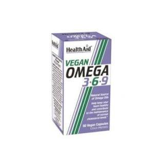 Health Aid Vegan Omega 3-6-9 60 Caps Fatty Acids