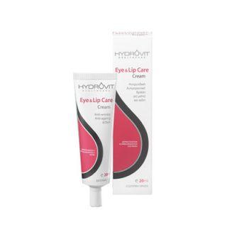 Hydrovit Eye & Lip Care Cream 20ml Αντιρυτιδική Αντιγηραντική Κρέμα για Μάτια και Χείλη