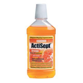 InterMed Actisept Mouthwash Orange 500ml Στοματικό Διάλυμα Πορτοκάλι