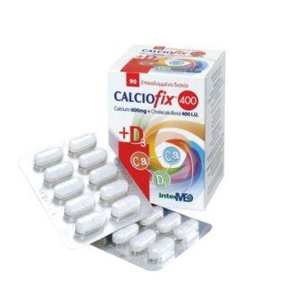 InterMed Calciofix Calcium 600mg + Cholecalciferol (D3) 400IU 90 Tablets Συμπλήρωμα Ασβεστίου