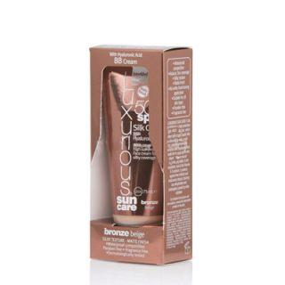InterMed Luxurious Sun Care Silk Cover Bronze Beige SPF50 75ml Αντιηλιακή Προστασία με Υαλουρονικό Οξύ και Ήπια Καλυπτικότητα