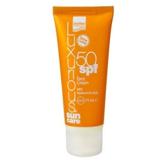 InterMed Luxurious Sun Care Face Cream SPF50 75ml with Hyaluronic Acid
