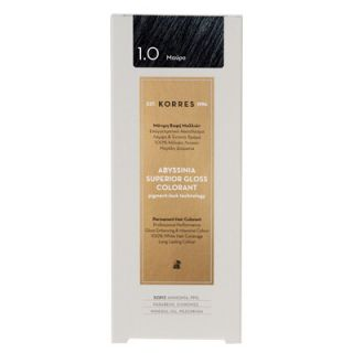 Korres Abyssinia Superior Gloss Colorant 50ml Βαφή Μαλλιών 1.0 Μαύρο