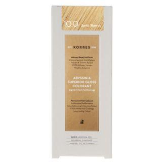 Korres Abyssinia Superior Gloss Colorant 50ml Hair Colorant 10.0 Platinum Blonde