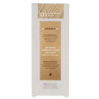Korres Abyssinia Superior Gloss Colorant 50ml Βαφή Μαλλιών 10.1 Ξανθό Πλατίνας Σαντρέ