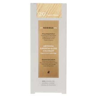 Korres Abyssinia Superior Gloss Colorant 50ml Βαφή Μαλλιών 12.0 Special Blonde