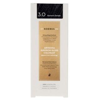 Korres Abyssinia Superior Gloss Colorant 50ml Hair Colorant 3.0 Dark Brown