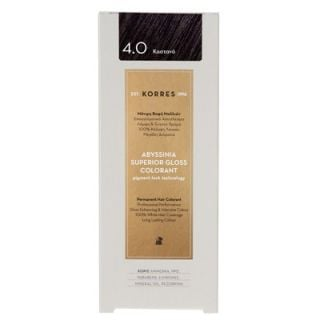 Korres Abyssinia Superior Gloss Colorant 50ml Hair Colorant 4.0 Brown