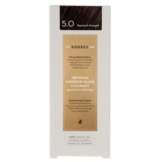 Korres Abyssinia Superior Gloss Colorant 50ml Hair Colorant 5.0 Light Brown