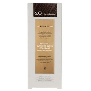 Korres Abyssinia Superior Gloss Colorant 50ml Hair Colorant 6.0 Dark Blonde