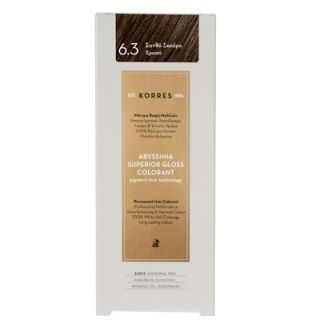 Korres Abyssinia Superior Gloss Colorant 50ml Hair Colorant 6.3 Dark Blonde Gold