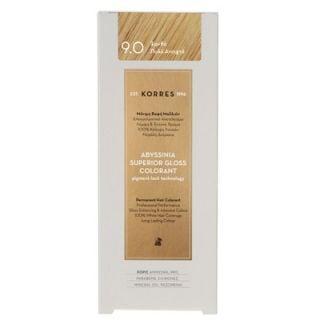 Korres Abyssinia Superior Gloss Colorant 50ml Βαφή Μαλλιών 9.0 Ξανθό Πολύ Ανοιχτό