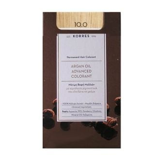 Korres Argan Oil Advanced Colorant 50ml Permanent Hair Colorant 10.0 Natural Platinum Blonde