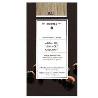 Korres Argan Oil Advanced Colorant 50ml Permanent Hair Colorant 10.1 Platinum Blonde Ash