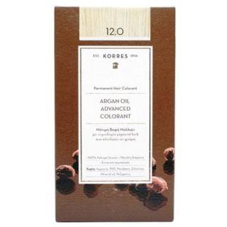 Korres Argan Oil Advanced Colorant 50ml Μόνιμη Βαφή Μαλλιών 12.0 Ξανθό