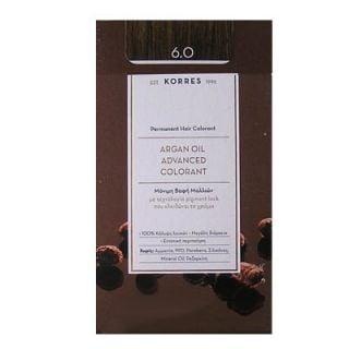 Korres Argan Oil Advanced Colorant 50ml Permanent Hair Colorant 6.0 Natural Dark Blonde