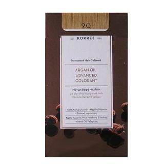 Korres Argan Oil Advanced Colorant 50ml Μόνιμη Βαφή Μαλλιών 9.0 Κατάξανθό Φυσικό