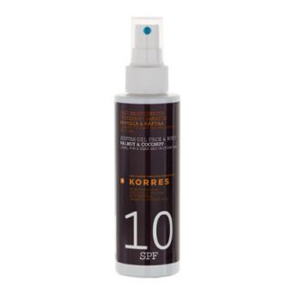 Korres Face and Body Suntan Oil SPF10