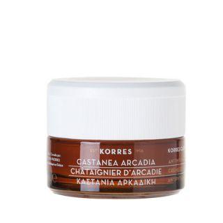 Korres Castanea Arcadia Day Cream Normal - Combination Skin 40ml Καστανιά Αρκαδική Αντιρυτιδική & Συσφιγκτική Κρέμα Ημέρας για Κανονικά - Μεικτά Δέρματα