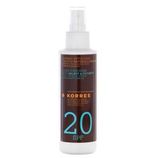 Korres Clear Sunscreen Body Walnut and Coconut SPF20 150ml