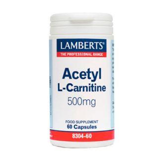 Lamberts Acetyl L Carnitine των 500mg 60 Caps