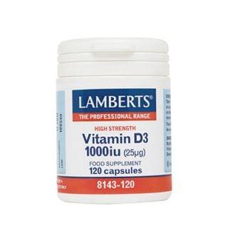 Lamberts Vitamin D 1000IU 120 Tabs