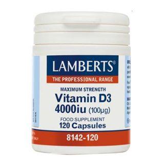 Lamberts Vitamin D3 4000iu 120 Caps Βιταμίνη D3