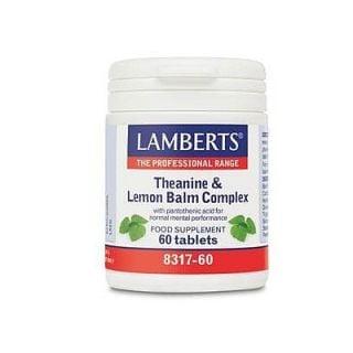 Lamberts Theanine & Lemon Balm Complex 60 Tabs