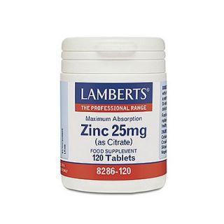 Lamberts Zinc 25mg Citrate 120 Tabs