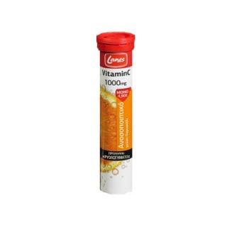 Lanes Vitamins C 1000mg 20 Effervescent Tabs