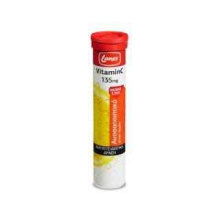 Lanes Vitamin C 135mg 20 Effervescent Tabs Lemon Flavor