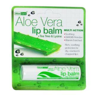 Optima AloeDent Aloe Vera Lip Balm 4gr Ενυδάτωση Χειλιών
