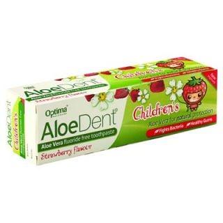 Optima AloeDent Strawberry Children's Toothpaste 50ml