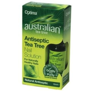 Optima Australian Tea Tree Antiseptic Nail Solution 10ml Αντισηπτικό Διάλυμα Νυχιών με Έλαιο Τεϊόδεντρου