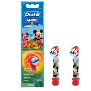Oral-B Stages Power Kids Mickey Mouse Replacement Heads 2 Items