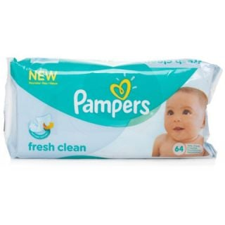 Pampers Baby Wipes Fresh Clean Μωρομάντηλα 64 Τεμάχια