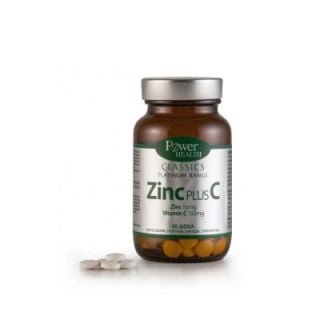 Power Health Zinc Plus C 30 Tabs Zinc and Vitamin C