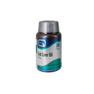 Quest Cod Liver Oil 1000mg with vitamins A & D 30 Caps Mουρουνέλαιο