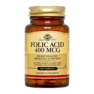 Solgar Folic Acid 400μg 100 Tabs