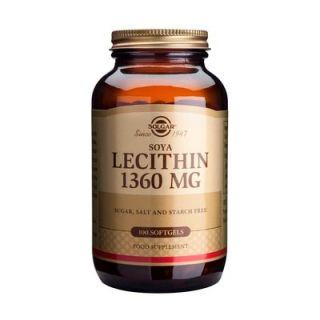 Solgar Lecithin 1360mg 250 Softgels