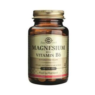 Solgar Magnesium + Vitamin B6 100 Tabs