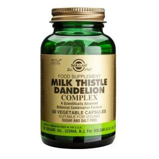 Solgar Milk Thistle/ Dandelion Complex 50 Veg. Caps