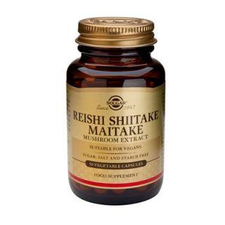 Solgar Reishi Shitake Maitake Mushroom Extract 50 Veg. Caps