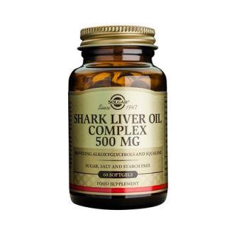 Solgar Shark Liver Oil Complex 500mg 60 Softgels